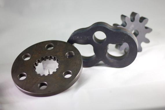Piezas de chapa cortadas con laser TRUMPF Lasertek 2
