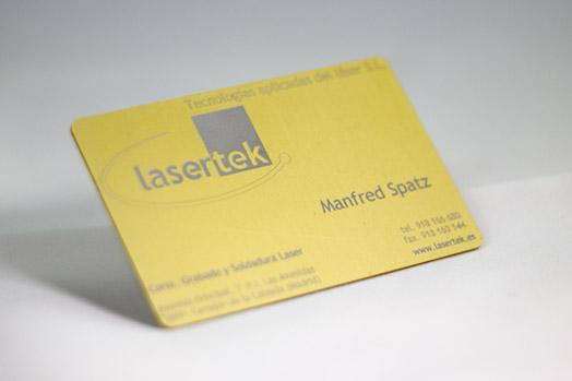 Grabado laser de metales Lasertek 3