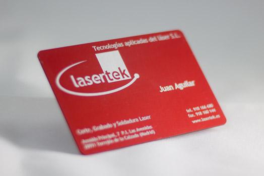 Grabado laser de metales Lasertek 4