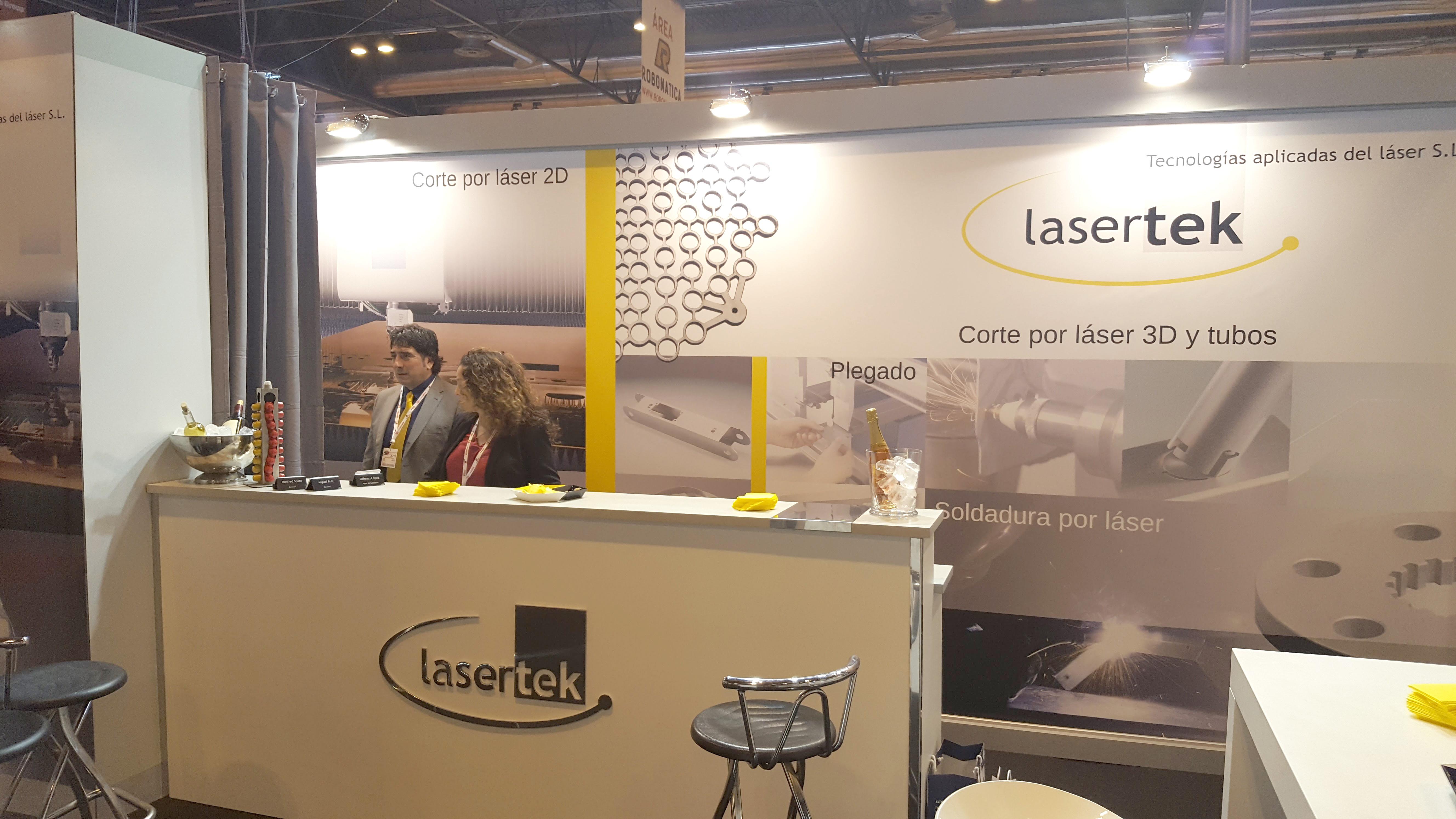 Stand Lasertek en Maetlamadrid 2017