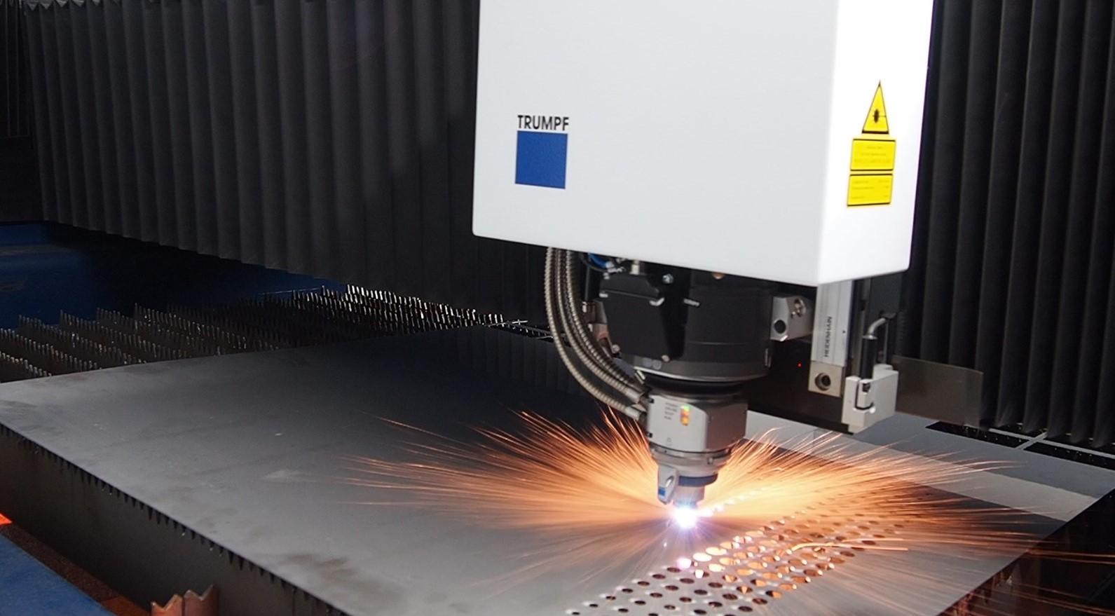 Lasertek automatización corte chapa laser
